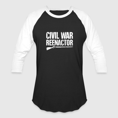 Historical American Civil War Reenactor Flintlock - Baseball T-Shirt