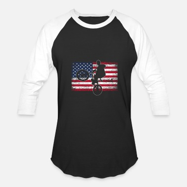 Bmx BMX America bike motocross wheels sport - Baseball T-Shirt