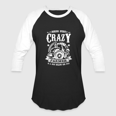 Crazy Farmer Farmer Shirt - Tractor - crazy farmer - Baseball T-Shirt