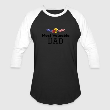 Most Valuable Player Most Valuable Dad Football Father's Day Gift - Baseball T-Shirt