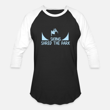 Skirt Skiing Park - Baseball T-Shirt