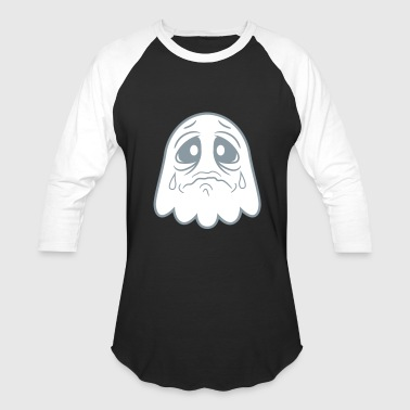 crying sad tears unhappy offended ghost cute cute - Baseball T-Shirt