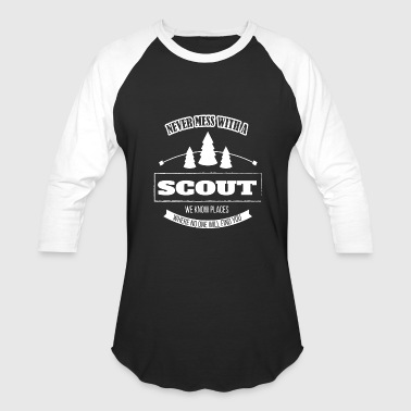 Biker Scout Scout - never mess with a scout funny boys - Baseball T-Shirt