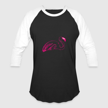 Hot Pink Flamingo Hot Pink Flamingo Outline: Best Gift Idea for girl - Baseball T-Shirt