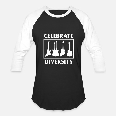 Diversity Quotes Celebrate the diversity of guitars funny g - Baseball T-Shirt