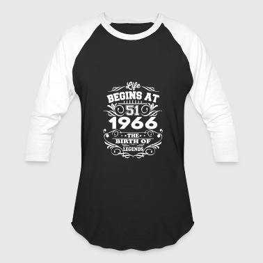 Date 1966 The Birth Of Legends T-Shirt - Baseball T-Shirt