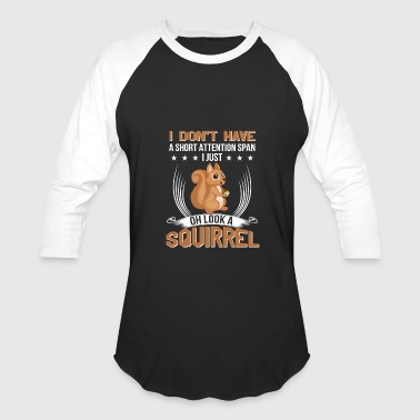 Adhd Squirrel Short Attention Squirrel ADHD Statement - Baseball T-Shirt