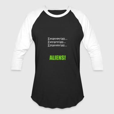 Ancient Aliens Theory Funny Ancient Alien Spelling2 - Baseball T-Shirt