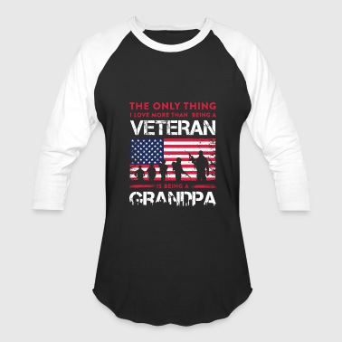 Veteran Is Being A Grandpa Veteran Is Being A Grandpa TShirt - Baseball T-Shirt