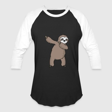 dabbing sloth dab slosh sleeping sloth gift - Baseball T-Shirt