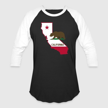 CALIFORNIA STATE WITH STATE BEAR - Baseball T-Shirt