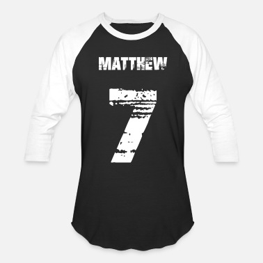 Number Matthew 7 - Baseball T-Shirt