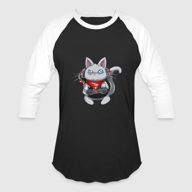 Cool Gaming Gaming Cat - Gamer Cat - Cool Cat Gaming - Baseball T-Shirt
