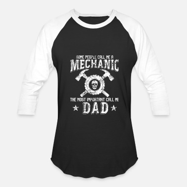 My Dads A Mechanic Mechanic - Mechanic Dad T Shirt - Baseball T-Shirt
