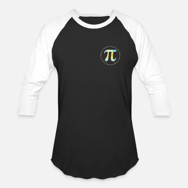 Pi PI CIRCLE WITH NUMBERS - Baseball T-Shirt