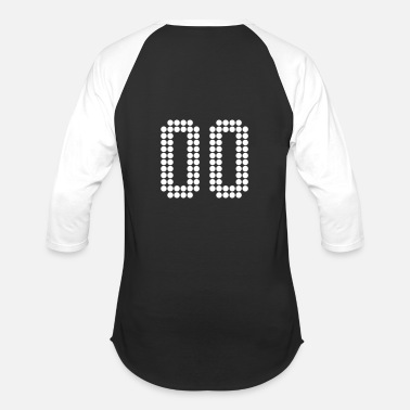 Jersey Number 00, Numbers, Football Numbers, Jersey Numbers - Baseball T-Shirt