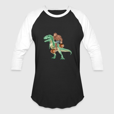 Bigfoot Trex - Baseball T-Shirt
