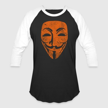 Vintage Vendetta Black and Orange Raglan shirt - Baseball T-Shirt