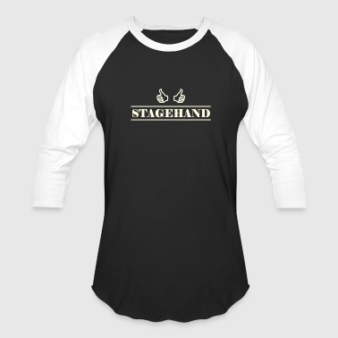 stagehand white - Baseball T-Shirt