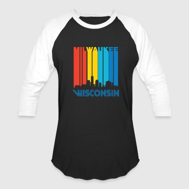City - retro 1970's milwaukee wisconsin downtown - Baseball T-Shirt