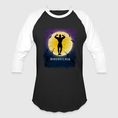Bodybuilding Bodybuilding Halloween Vintage Art Bodybuilder - Baseball T-Shirt