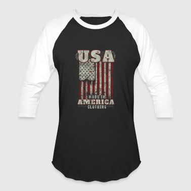 Funny Baby Made In Usa American apparel made in america clothing - Baseball T-Shirt