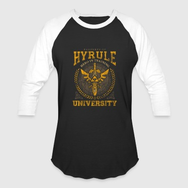 Hyrule-crest Hyrule University - Hero in Training - Baseball T-Shirt