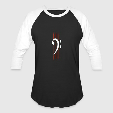 Key Bass Clef bass clef - Baseball T-Shirt