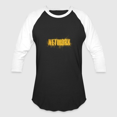 Word Art Network Computer Internet - Baseball T-Shirt