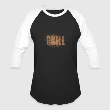 Color Grill Wood Design Art - Baseball T-Shirt