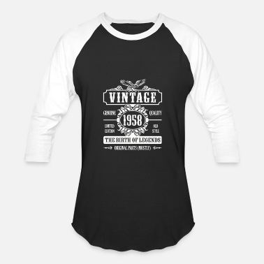 Birth Year 1958 Vintage 1958 The Birth Of Legends - Baseball T-Shirt
