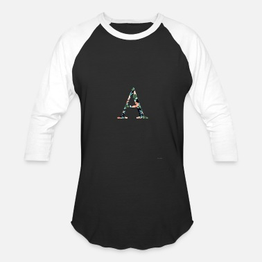 Greek Letters Alpha Floral Greek Letter T shirt - Baseball T-Shirt