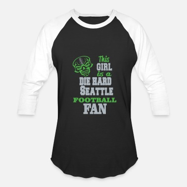 Funny Seattle SEATTLE - THIS GIRL IS A DIE HARD SEATTLE FOOTBA - Baseball T-Shirt