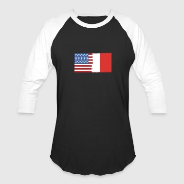 Flag Half Half Italy Half USA Flags - Baseball T-Shirt