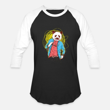 Panda Beard Panda Bear - Baseball T-Shirt