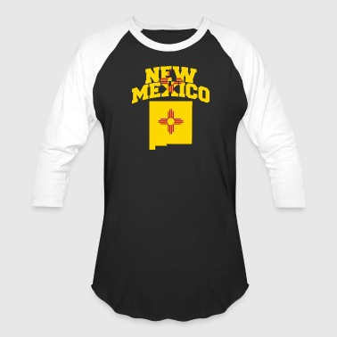 New Mexico State Flag New Mexico Flag Map - Baseball T-Shirt