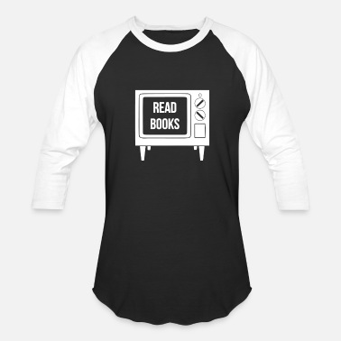 Read More Books Read Books No More TV - Baseball T-Shirt
