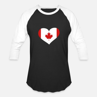 Us And Canada Canada Heart; Love Canada - Baseball T-Shirt