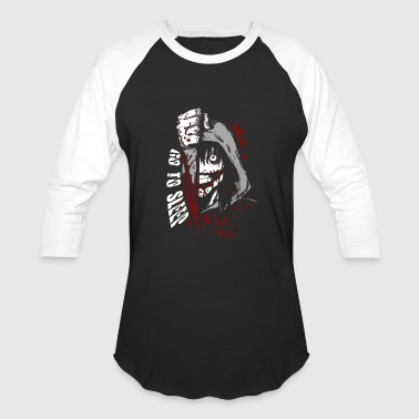 My Name Is Jeff Vine Jeff the killer - Go to sleep horror T - shirt - Baseball T-Shirt