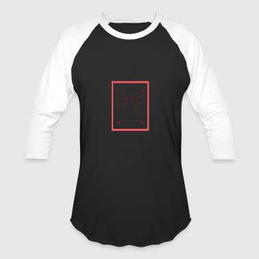 Angry square face - Baseball T-Shirt