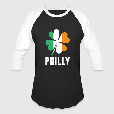 Philly Shamrock Irish - philly st. patricks day irish shamrock - Baseball T-Shirt