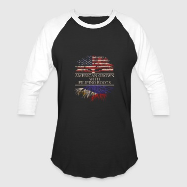 american grown with filipino roots vintage - Baseball T-Shirt