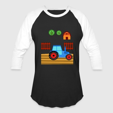Barn Farm Baby tractor plow field farm barn gift idea - Baseball T-Shirt