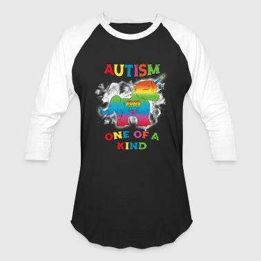 Autism Brother Autism Awarenesss Distressed - Baseball T-Shirt