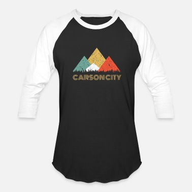 Carson City Retro City of Carson City Mountain Shirt - Baseball T-Shirt
