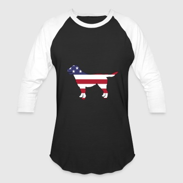 Flag Labrador American Flag Labrador Happy 4th of July - Baseball T-Shirt