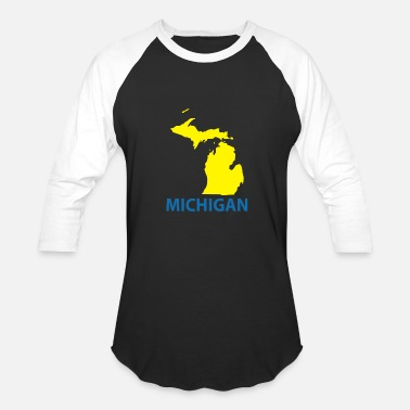 Retro Michigan MICHIGAN - Unisex Baseball T-Shirt