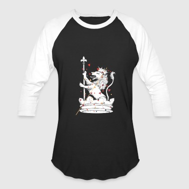 lion with crown - Baseball T-Shirt