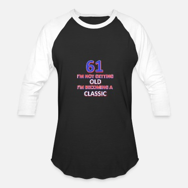 61 Birthday 61 birthday design - Baseball T-Shirt