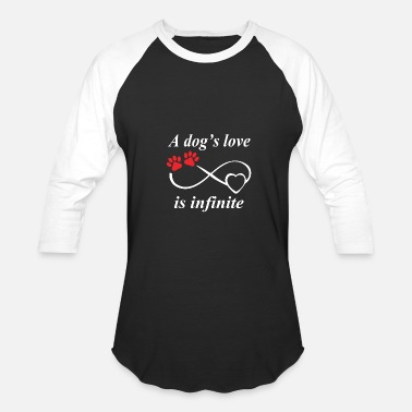 Porn Dog Lover Dog lover - A dog's love is infinite - Baseball T-Shirt